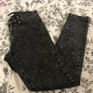 Forever 21 Acid Wash Denim Jean Leggings